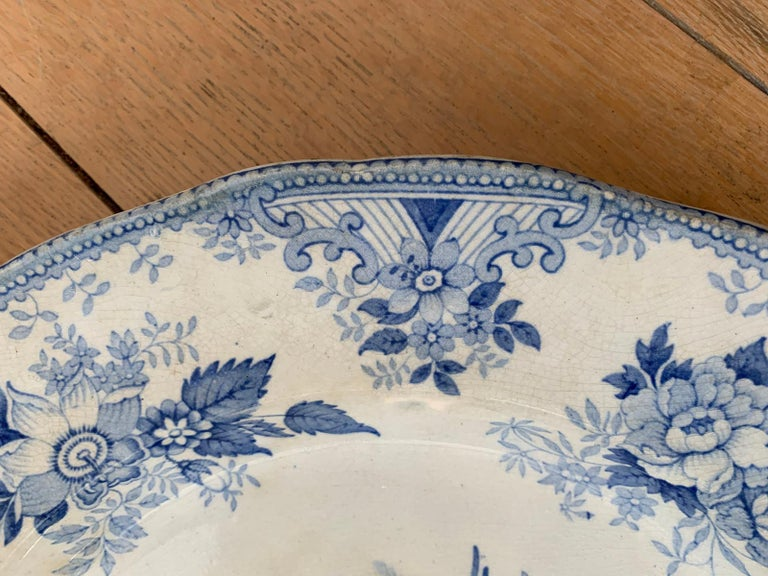 19th Century English Transferware Charger in Asiatic Pheasants Pattern Signed JF For Sale 4
