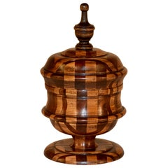 19th Century English Treen Lidded Jar