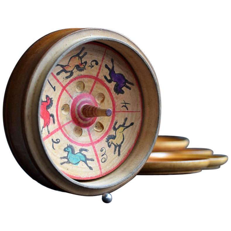 19th Century English Treen Roulette Wheel