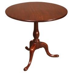 19th Century English Tripod Table in Mahogany