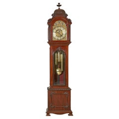 19th Century English Tube Chimer Longcase Clock