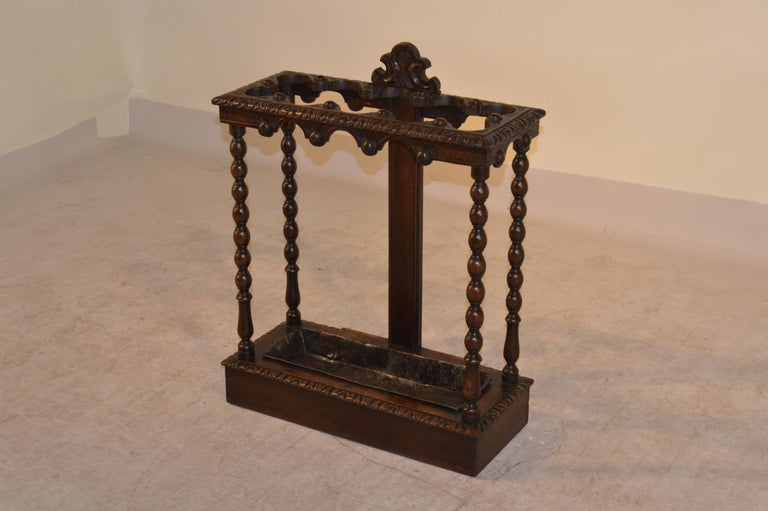 Painted 19th Century English Umbrella Stand For Sale