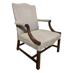 19th Century English Upholstered Library Chair
