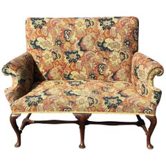 19th Century English Upholstered Settee