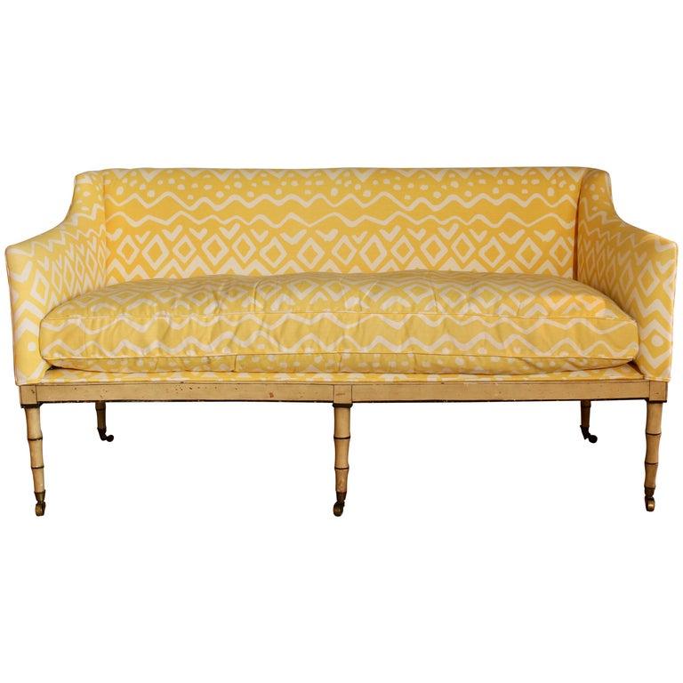 Admirable 19Th Century English Upholstered Sofa Or Bench Frankydiablos Diy Chair Ideas Frankydiabloscom