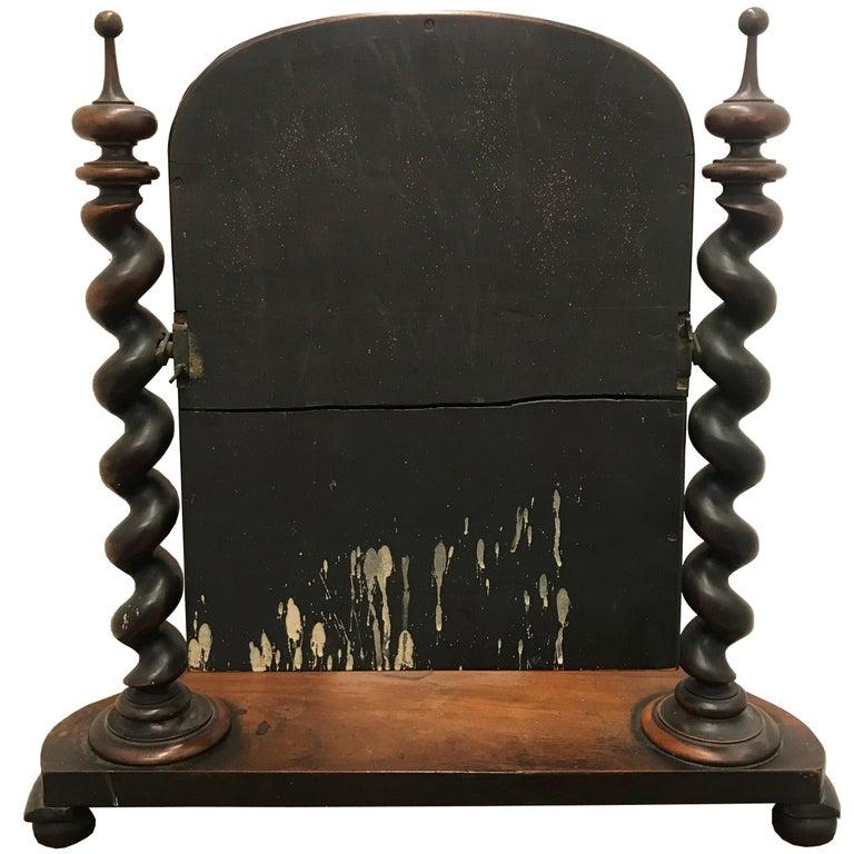 Mid-19th Century 19th Century English Vanity Mirror For Sale
