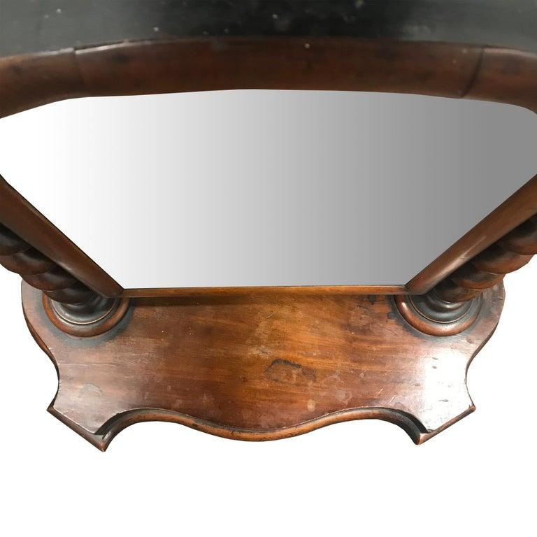 Mahogany 19th Century English Vanity Mirror For Sale