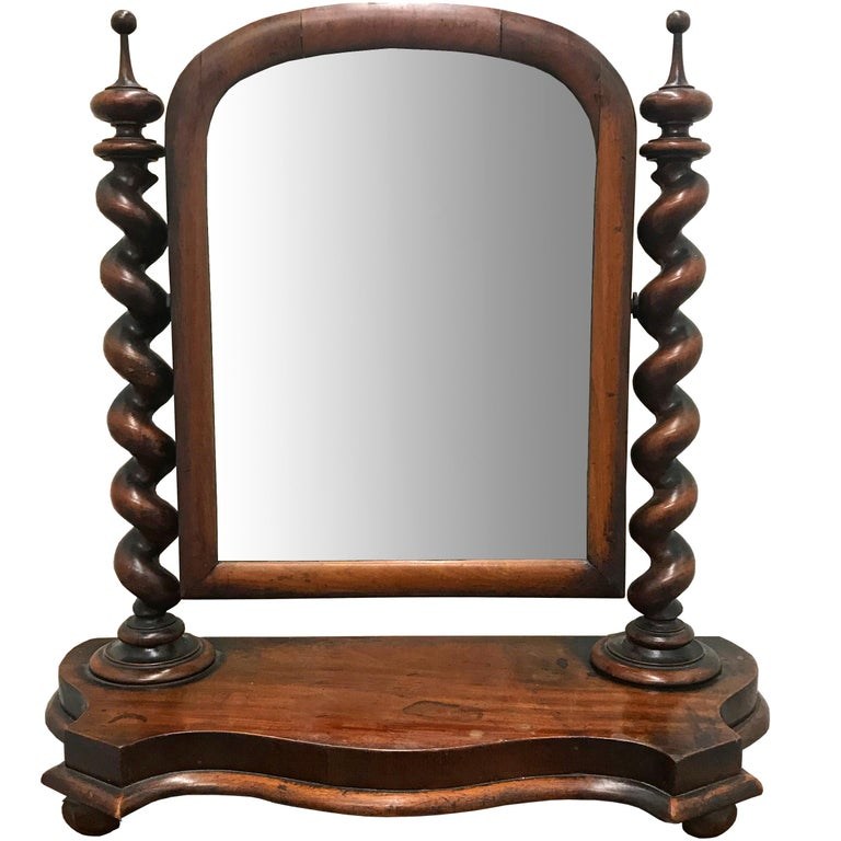 19th Century English Vanity Mirror For Sale