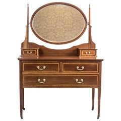 19th Century English Vanity Table with the Signature of Maple & Co.
