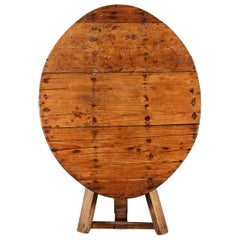 19th Century English Vernacular Pine Table with Tilt Top