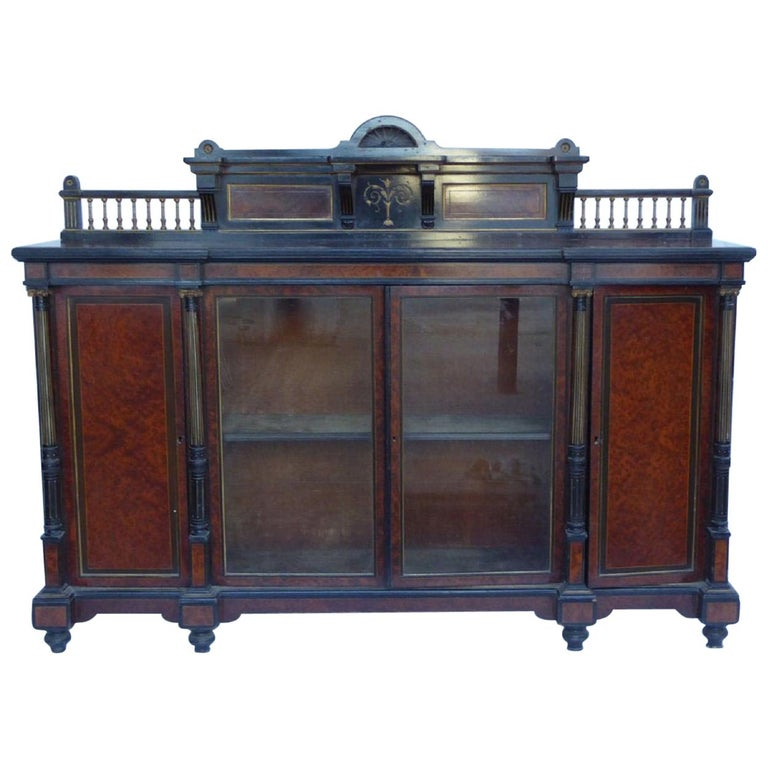 19th Century English Victorian Aesthetic Movement Credenza by Gillows For Sale