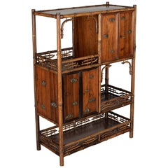 19th Century English Victorian Bamboo Cabinet