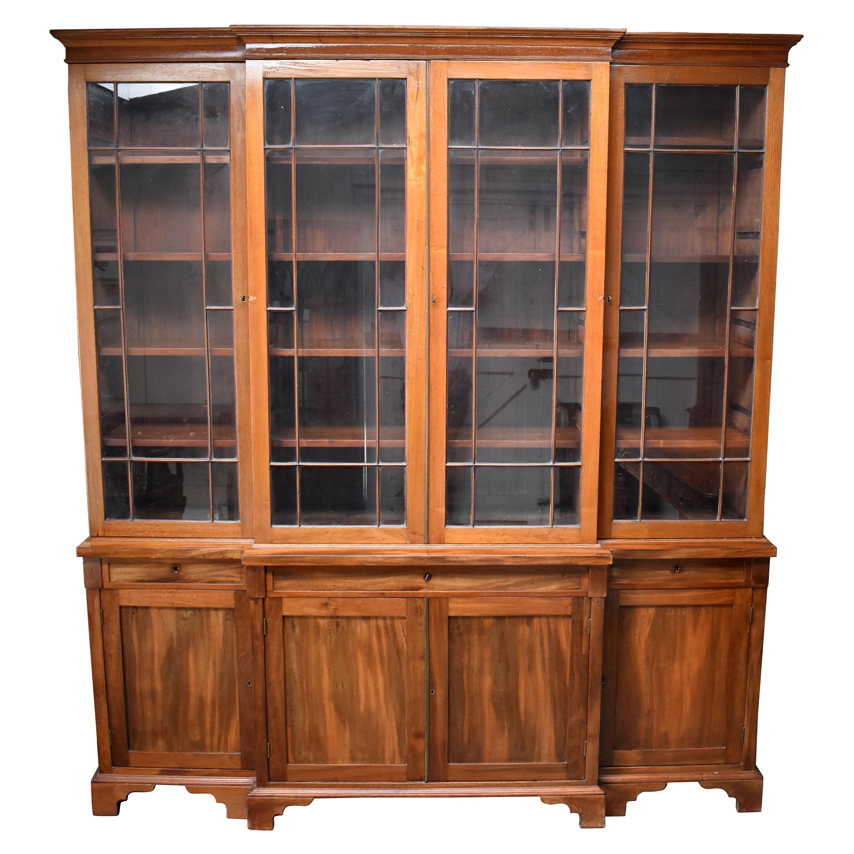 19th Century English Victorian Breakfront Bookcase