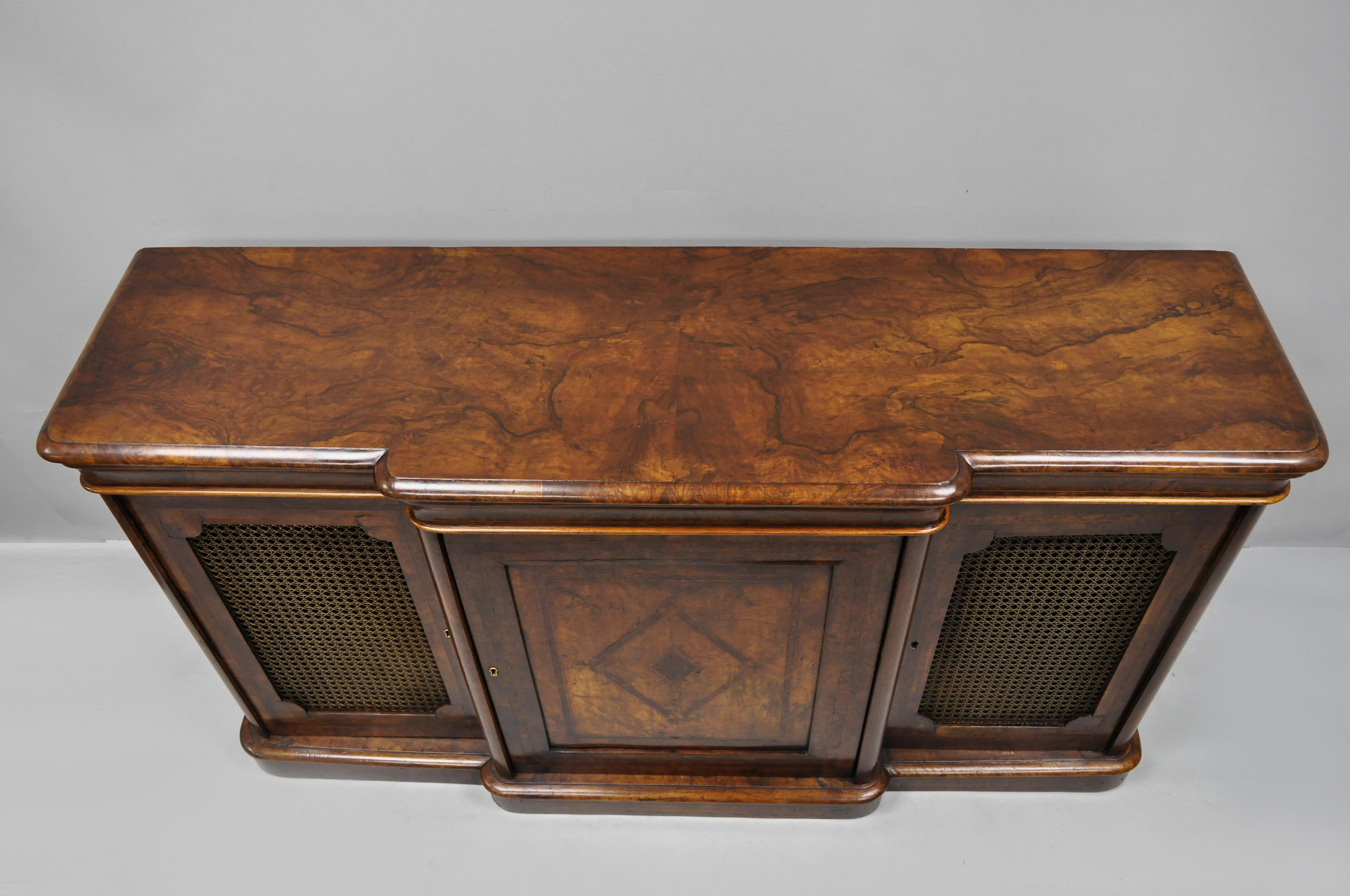 Credenza For Sale Perth : Th century english victorian burr walnut inlaid credenza cabinet