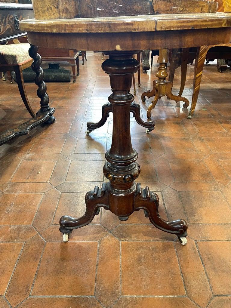 19th Century English Victorian Burr Walnut Ladies Desk Writing Table, 1850 For Sale 8