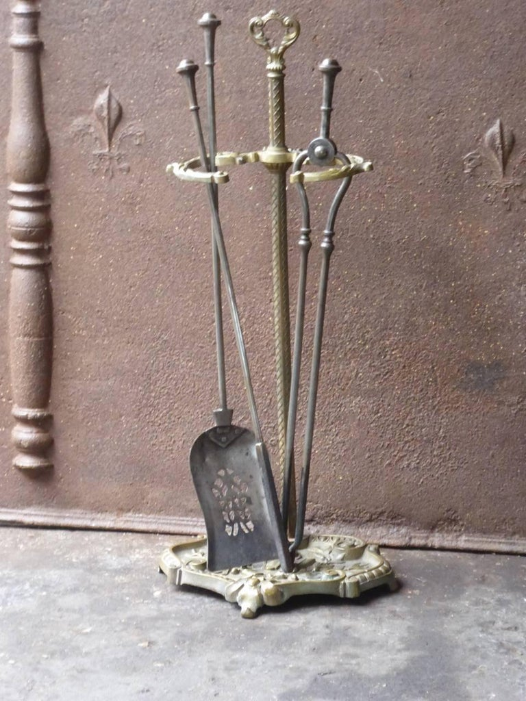 British 19th Century English Victorian Companion Set or Fireplace Tools For Sale