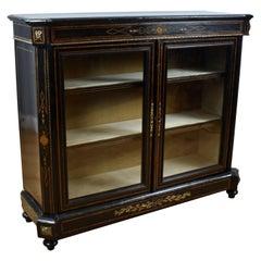 19th Century English Victorian Ebonised Pier Cabinet