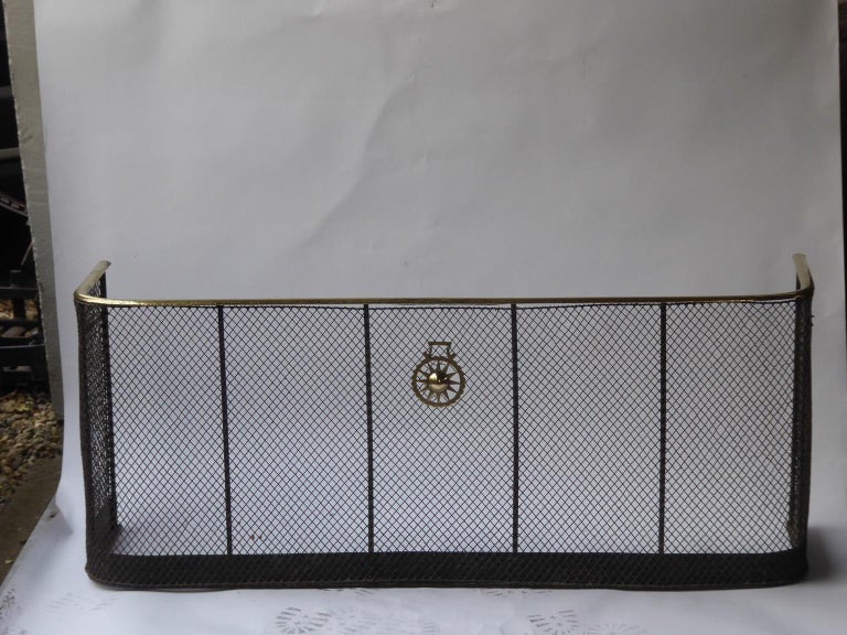 19th Century English Victorian Fire Guard For Sale 1
