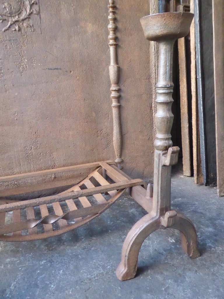 19th Century English Victorian Fireplace Grate or Fire Grate In Good Condition For Sale In Amerongen, NL