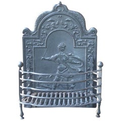 19th Century English Victorian Fireplace Grate or Fireplace Basket