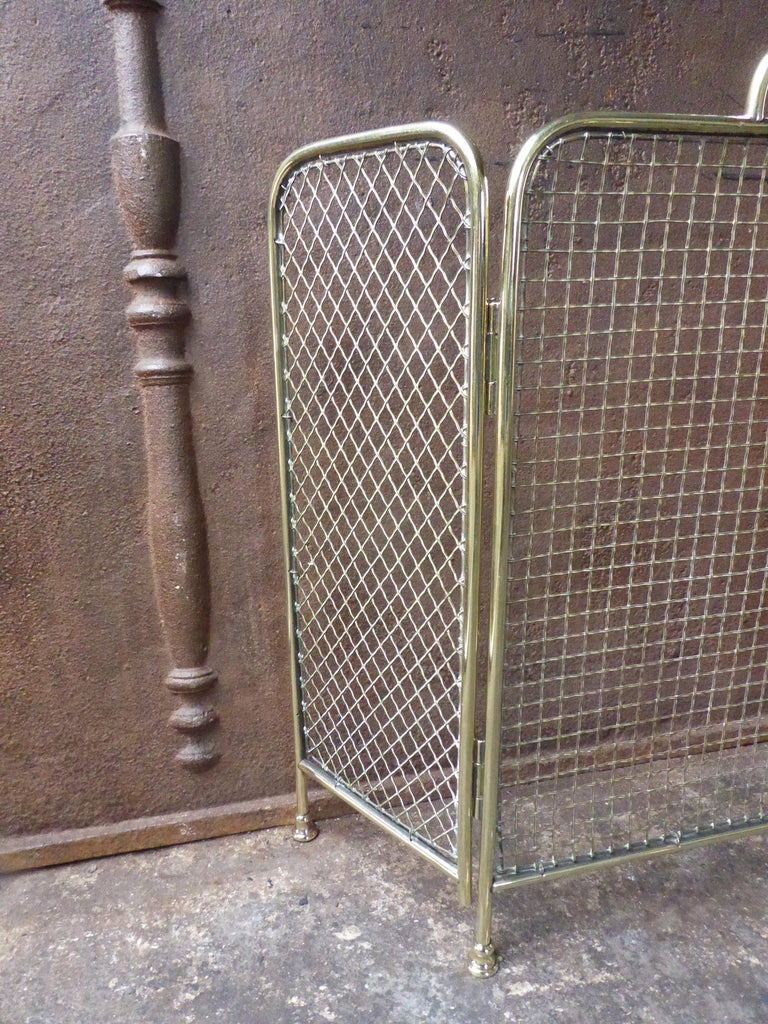 Polished 19th Century English Victorian Fireplace Screen or Fire Screen For Sale