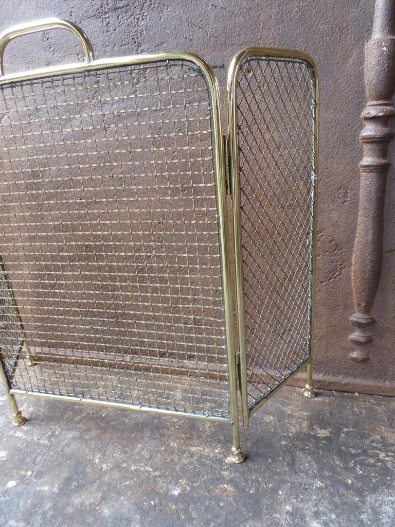 19th Century English Victorian Fireplace Screen or Fire Screen In Good Condition For Sale In Amerongen, NL