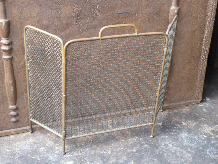 19th Century English Victorian Fireplace Screen or Fire Screen For Sale 1