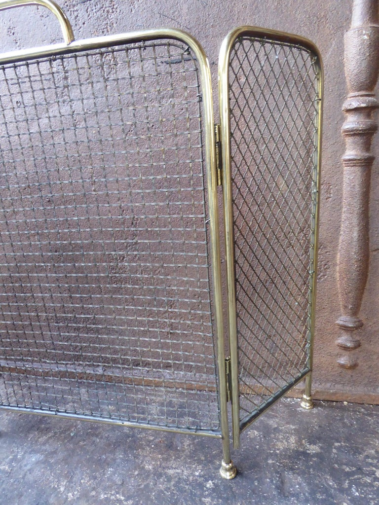 Iron 19th Century English Victorian Fireplace Screen or Fire Screen For Sale