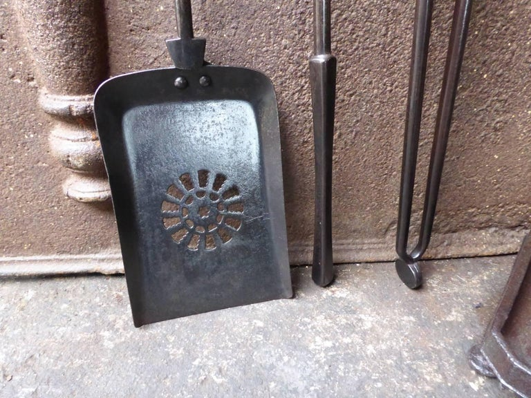 19th Century English Victorian Fireplace Tools or Companion Set For Sale 5