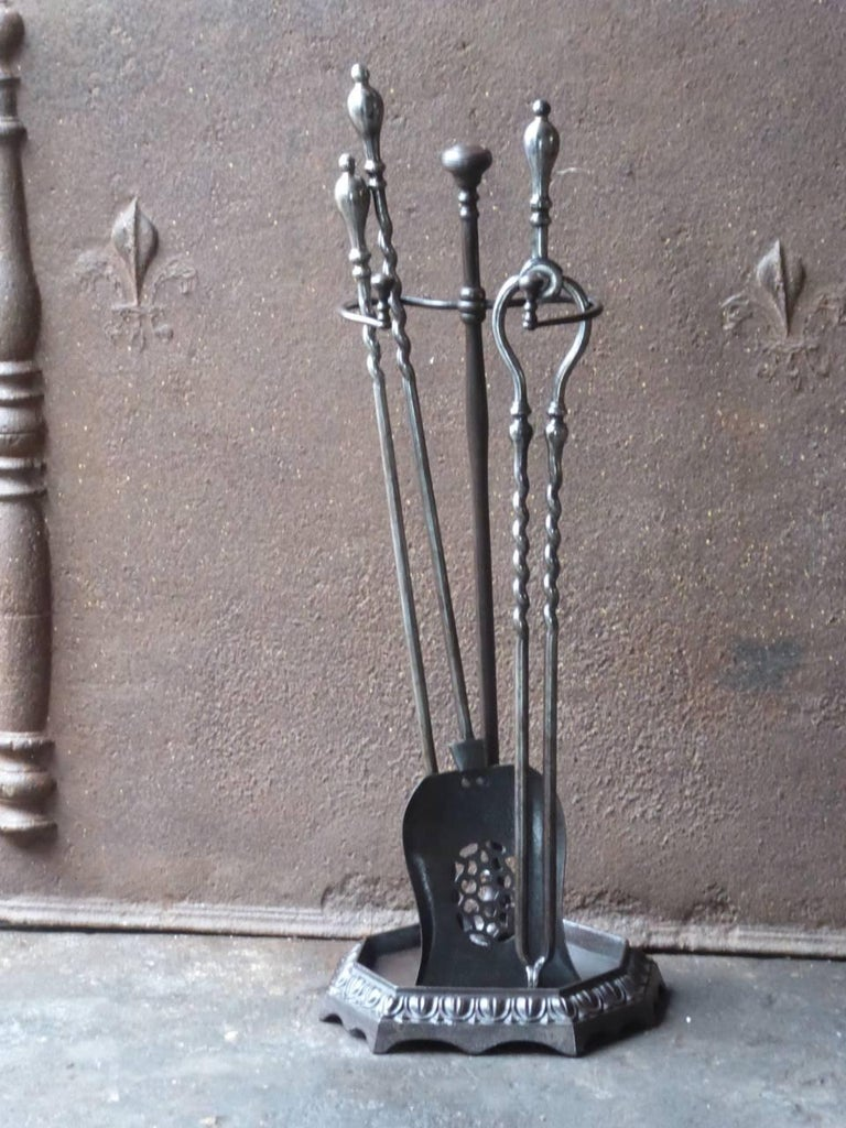British 19th Century English Victorian Fireplace Tools or Companion Set For Sale