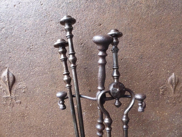 19th Century English Victorian Fireplace Tools or Companion Set In Good Condition For Sale In Amerongen, NL