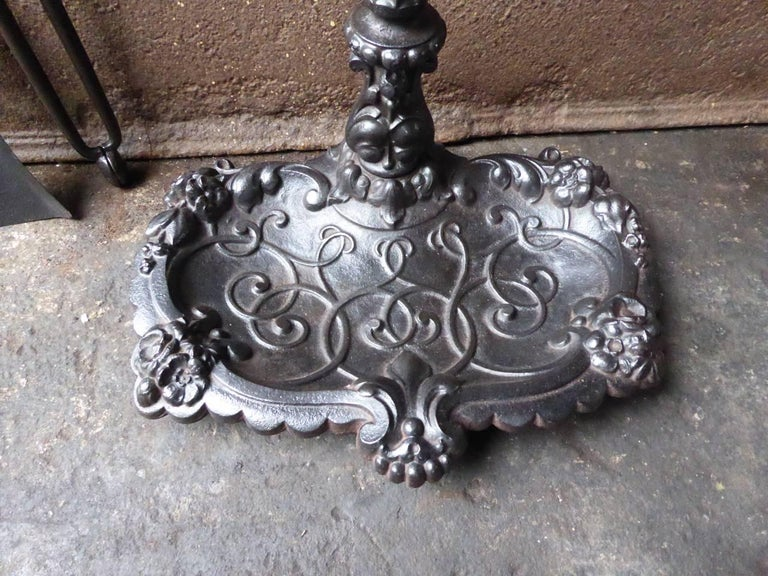 19th Century English Victorian Fireplace Tools or Companion Set For Sale 2