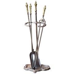 Iron Fireplace Tools and Chimney Pots