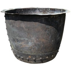 19th Century English Victorian Large Riveted Copper Planter