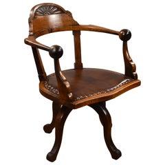19th Century English Victorian Mahogany Desk Chair