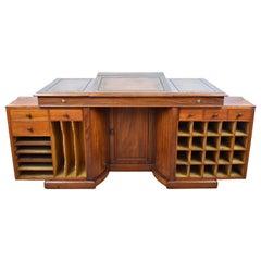 19th Century English Victorian Mahogany Kneehole Desk by Francis & James Smith