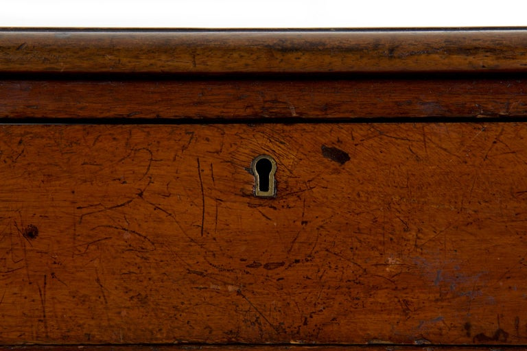 19th Century English Victorian Mahogany Leather Antique Pedestal Desk For Sale 6