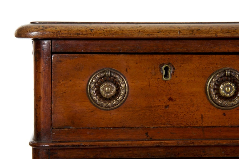 19th Century English Victorian Mahogany Leather Antique Pedestal Desk For Sale 7