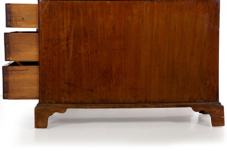 19th Century English Victorian Mahogany Leather Antique Pedestal Desk For Sale 12