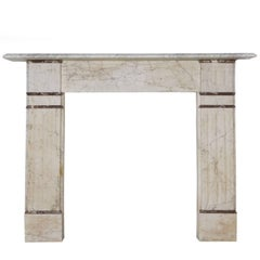 19th Century English Victorian Marble Fireplace Surround