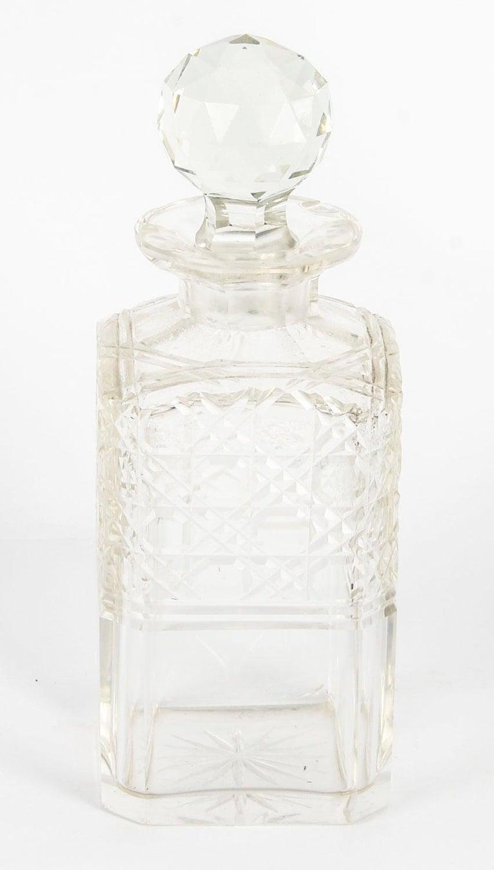 19th Century English Victorian Oak Three Crystal Decanter Tantalus  For Sale 12