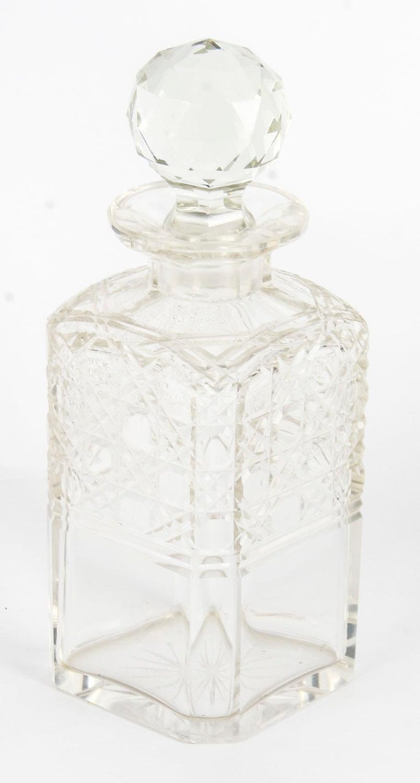 19th Century English Victorian Oak Three Crystal Decanter Tantalus  For Sale 14