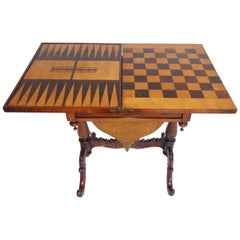 19th Century English Victorian Rosewood Games Table