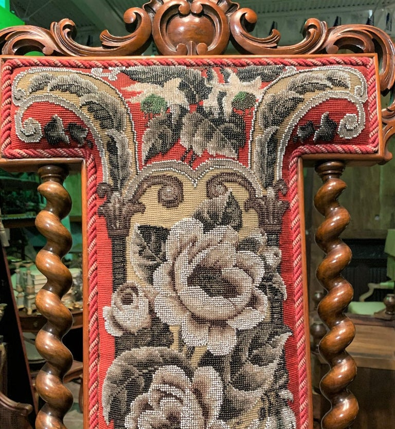 19th Century English Victorian Slipper Chair In Good Condition For Sale In Dallas, TX