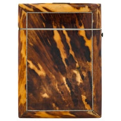 19th Century English Victorian Tortoise Shell Card Case