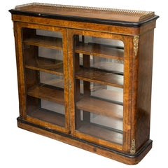 19th Century English Victorian Walnut Bookcase