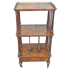 19th Century English Walnut Canterbury