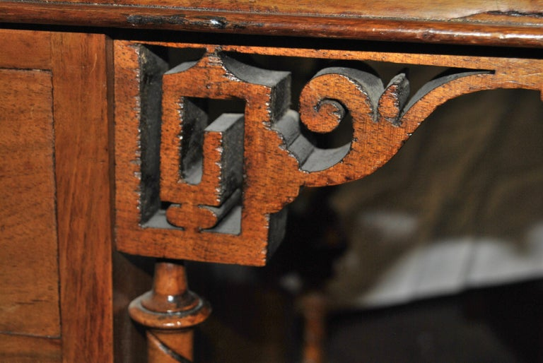 19th Century English Walnut Davenport Desk For Sale 5