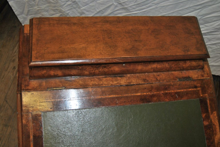 19th Century English Walnut Davenport Desk For Sale 7