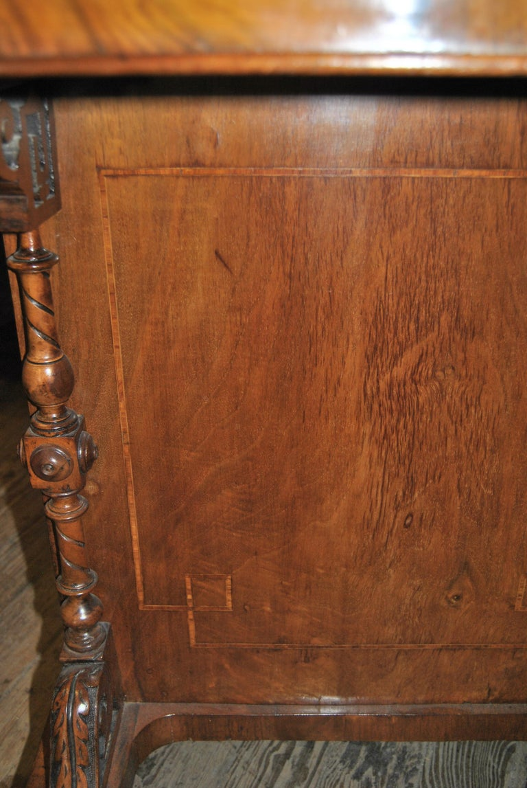 19th Century English Walnut Davenport Desk For Sale 8